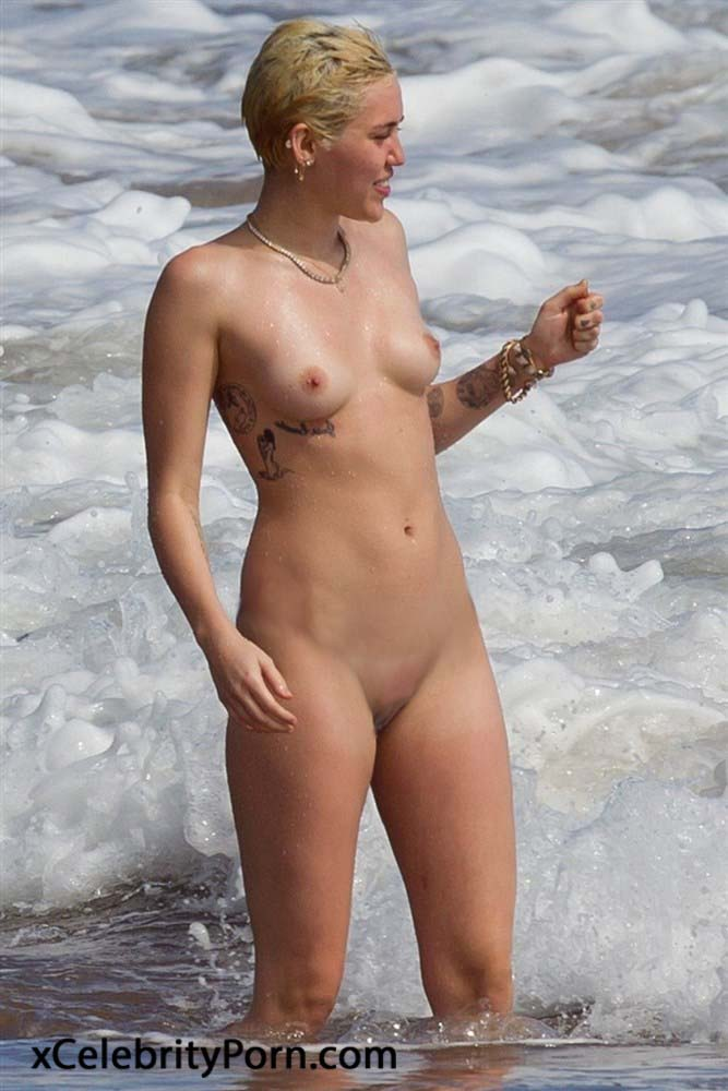 Miley cyrus topless selfie-1357